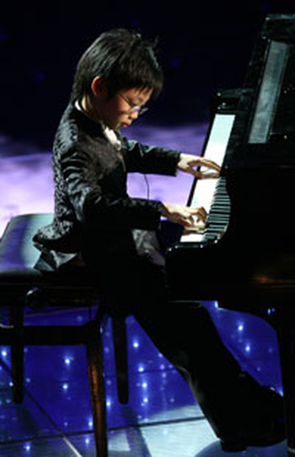 Marc plays at the San Remo Music Festival in February 2008.