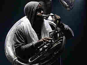 """Damon """"Tuba Gooding Jr."""" Bryson plays the sousaphone for The Roots."""