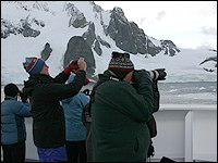 Photographers on boat