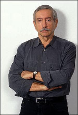 Edward Albee portrait, in casual shirt