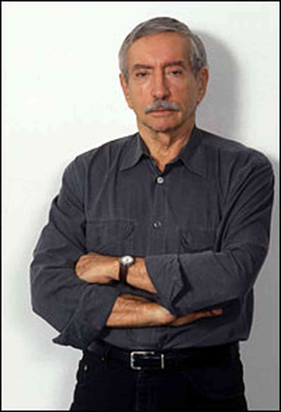 Edward Albee portrait, in casual shirt