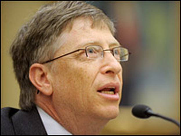 Microsoft co-founder Bill Gates testifies before the House Science and Technology Committee during a hearing on competitiveness and innovation in Washington, D.C., on Wednesday.