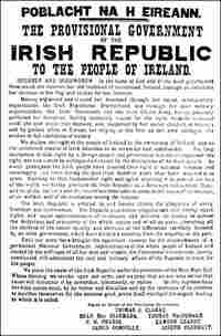 The Irish Proclamation of Freedom announced on April 24, 1916.