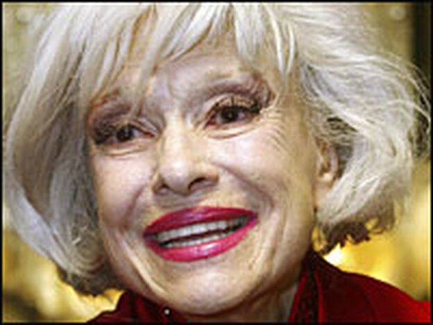 Carol Channing at her birthday celebration in 2005.