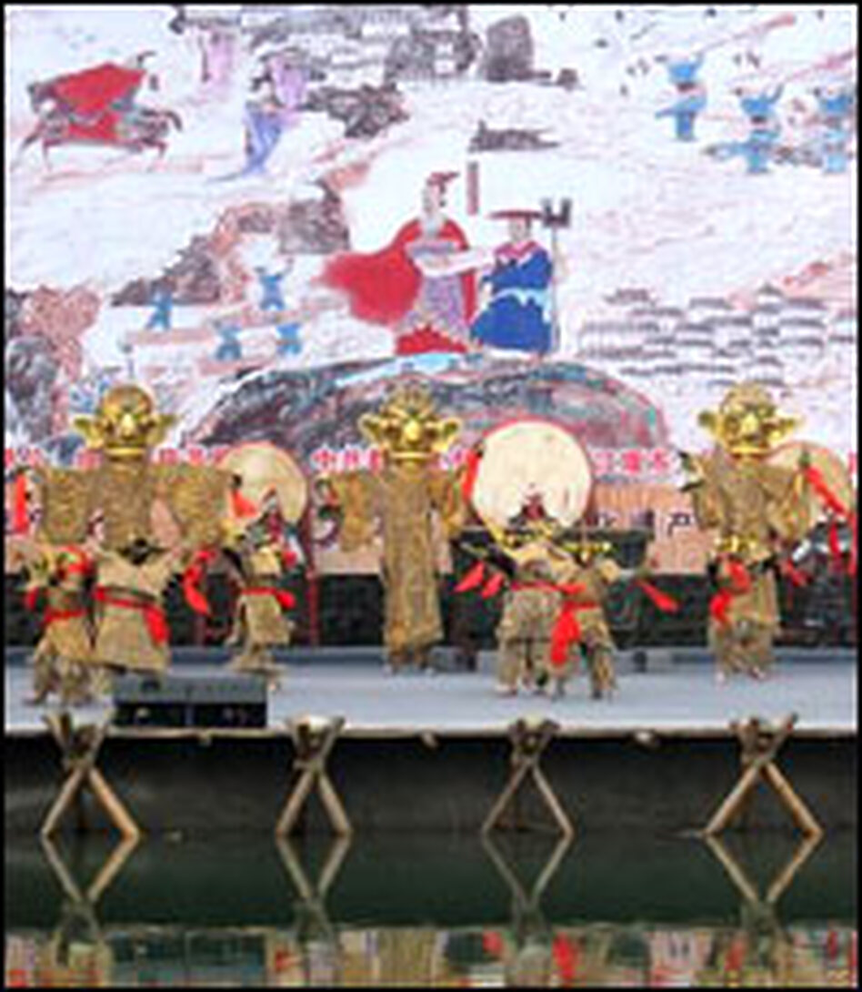 Third century B.C. Chengdu governor Li Bing is credited with helping the Sichuan province flourish by building the Dujiangyan irrigation system, completed in 256 B.C. This photo was taken during a festival honoring Li in April, before the earthquake hit.