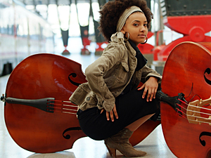 In 2005, Esperanza Spalding signed on at the Berklee College of Music as an instructor — at the age of 20. [Photo by Johann Sauty/via NPR]