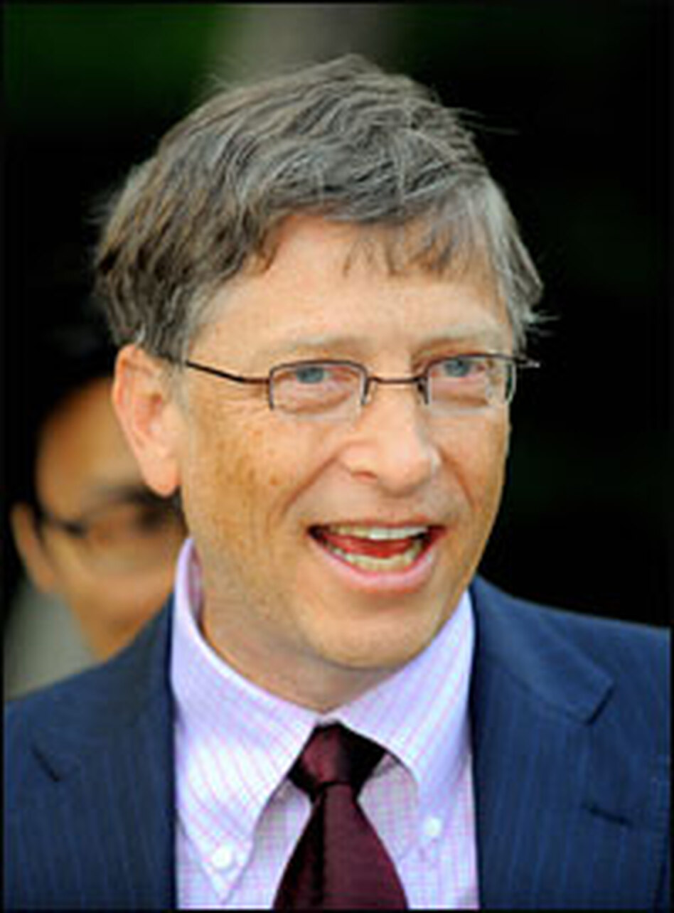 Bill Gates attended a reception last week at the presidential house in Seoul. Gates plans to move away his full-time role with Microsoft in July to spend more time on the foundation.
