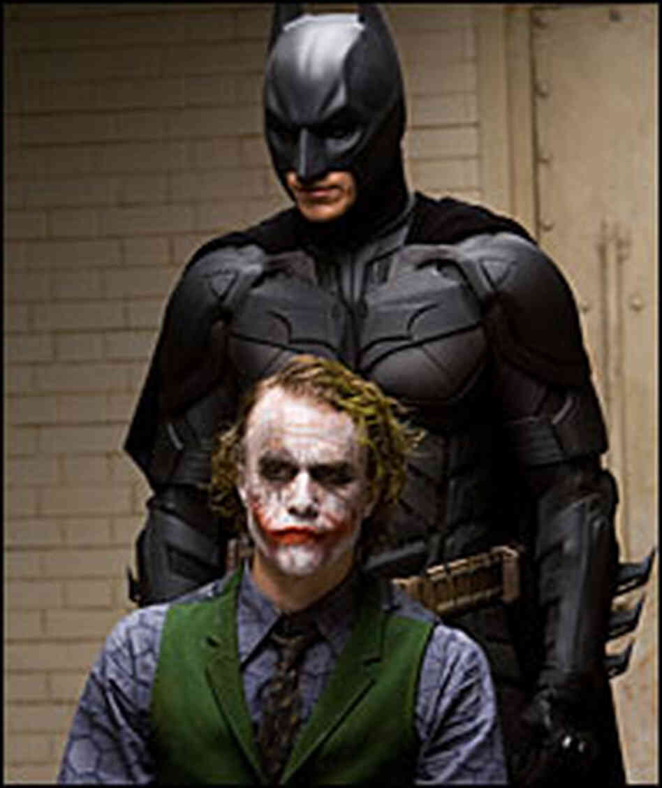 Christian Bale and Heath Ledger in 'Dark Knight'