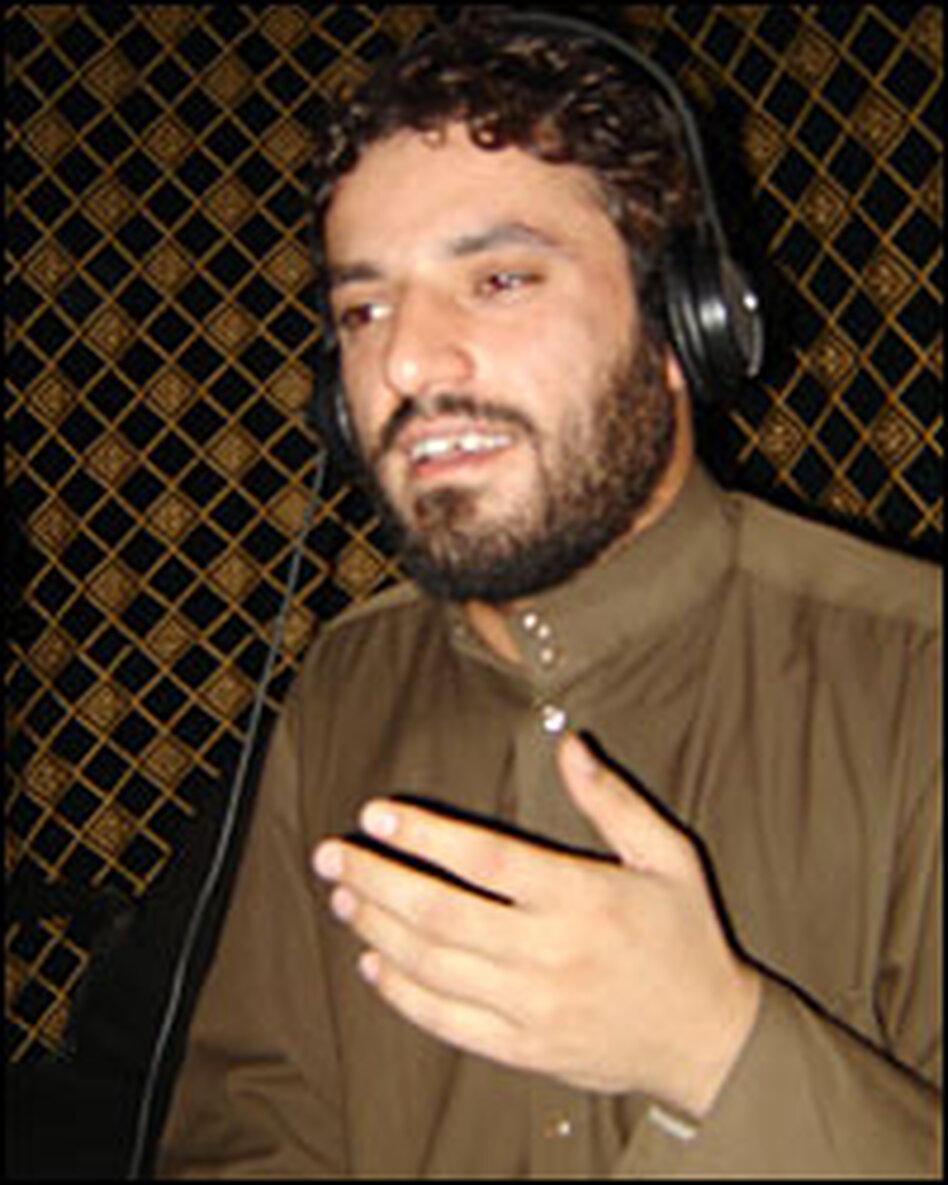 "Ali Delfi's song ""Taste the IED"" praises the fighters of the Shiite cleric Muqtada al Sadr and has been banned by the Iraqi government for inciting violence. He is shown at his recording studio in the Sadr City neighborhood of Baghdad."