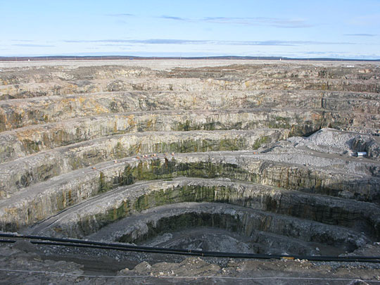 Open Pit Mining Canada Diavik's Pit Mine in Canada's