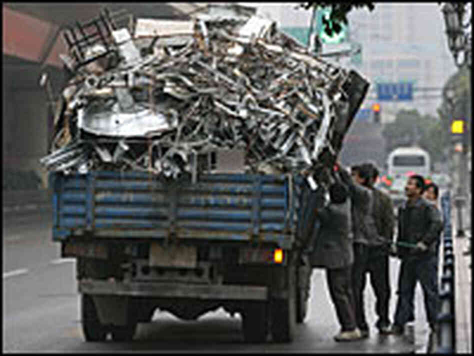 Scrap metal collectors in China