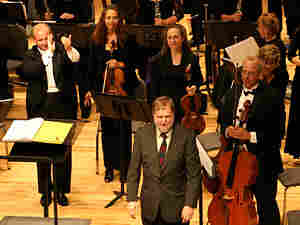 Composer Joseph Schwantner and the Reno Chamber Orchestra.