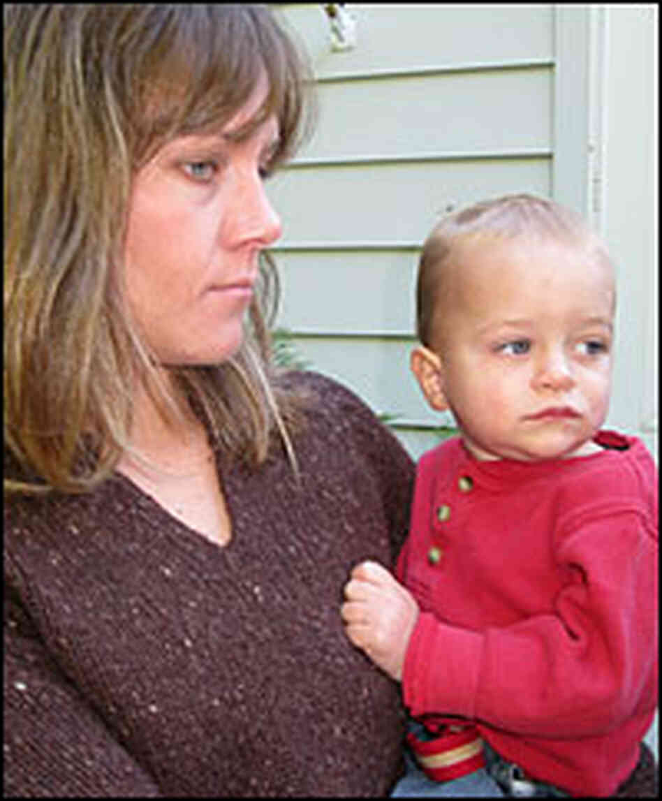 Tiffany Campbell holds her son, Brady.
