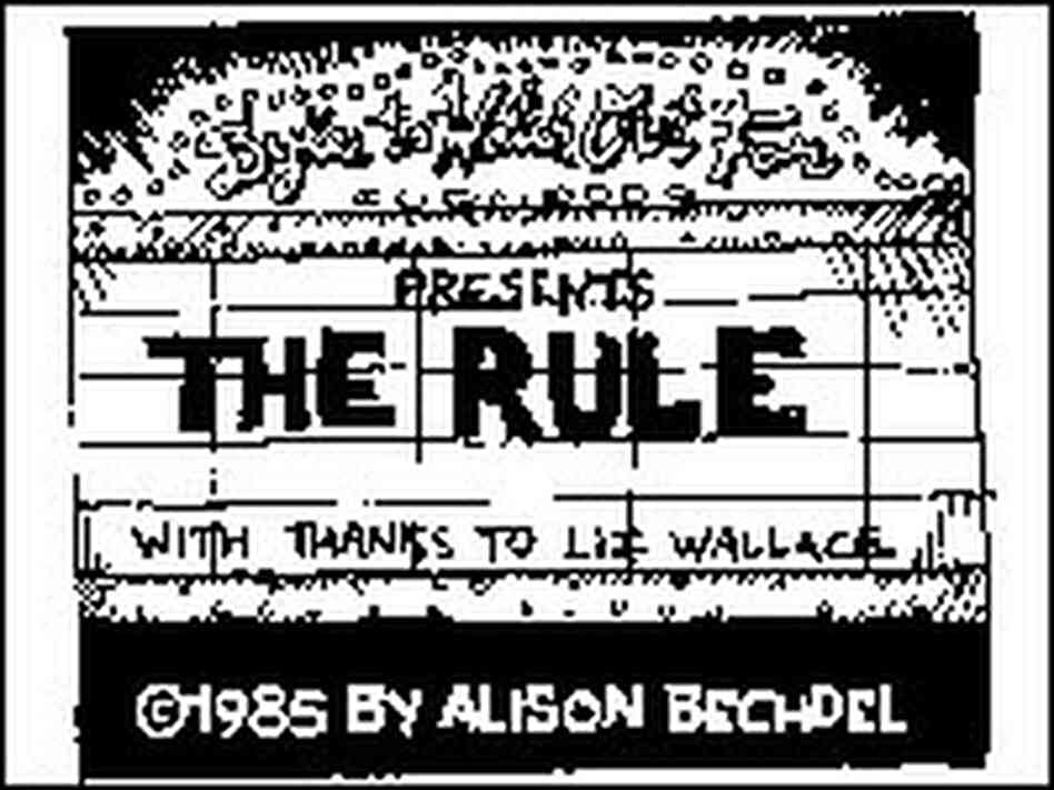 Alison Bechdel's 'The Rule' - detail.
