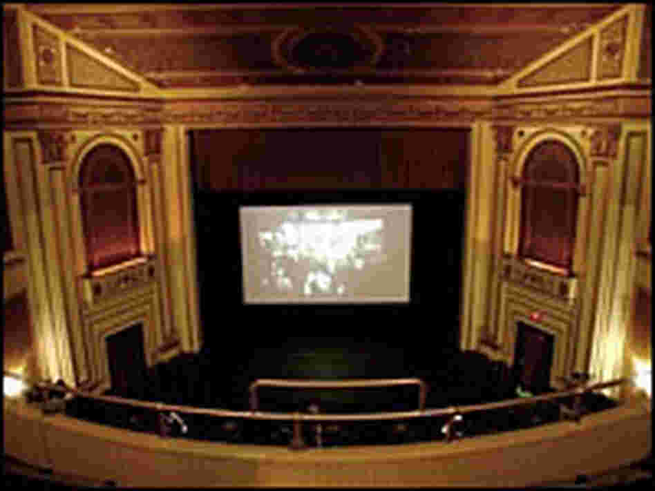 Interior view of Colonial Theatre, from balcony
