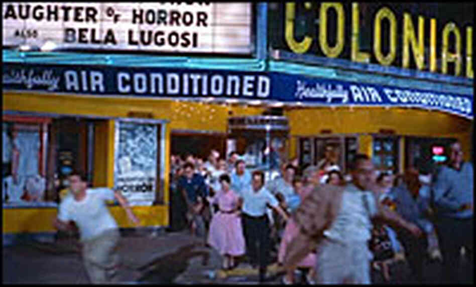 From 'The Blob': Crowds flee the Colonial Theatre