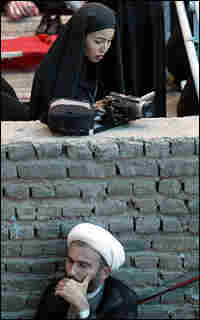 Roxana Saberi takes footage in 2004 of the 15th anniversary of the death of Ayatollah Khomeini.