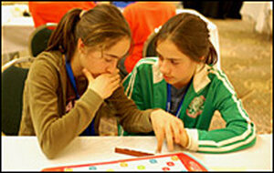 Competitors at the School Scrabble Competition