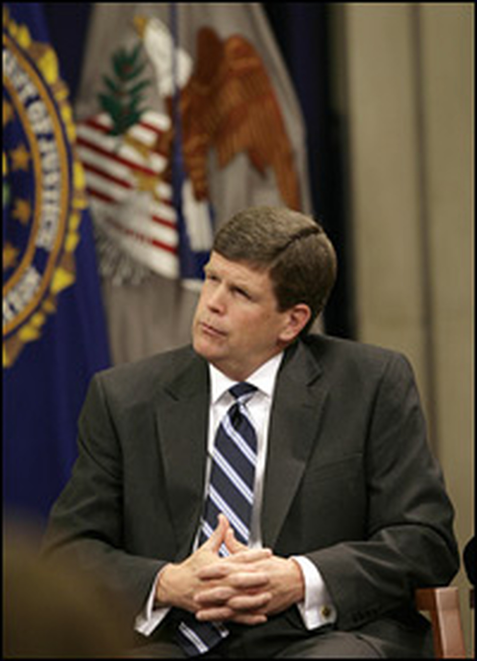 "Former U.S. Deputy Attorney General Paul McNulty, shown here in 2007, says of the mandatory penalty, ""The real hope was that individuals would avoid that kind of penalty and willingly plead to illegal entry or illegal presence in the United States and voluntarily be deported."""