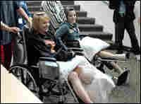 Destiny (left) and Rachel left the Maine Medical Center in June.