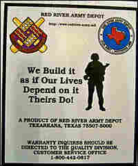 Sticker on Humvees.