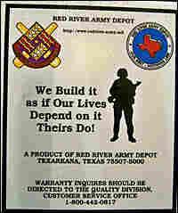 Sticker on Humvees.