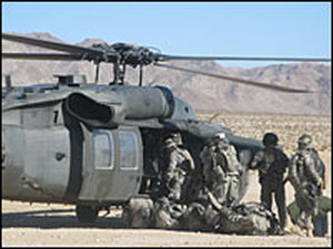 Helicopter training in California