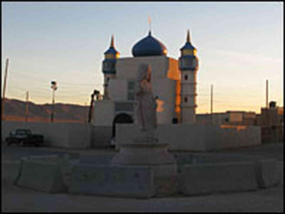 Mosque at National Training Center, Mojave Desert.
