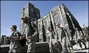 Army cadets at West Point.