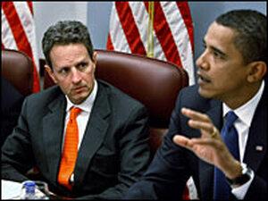U.S. Treasury Secretary nominee Timothy Geithner