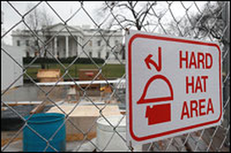 As of Wednesday, work continued on the viewing stand in front of the White House to prepare for Obama's inauguration less than two weeks away. People all over the country have been clamoring for tickets to see the event.
