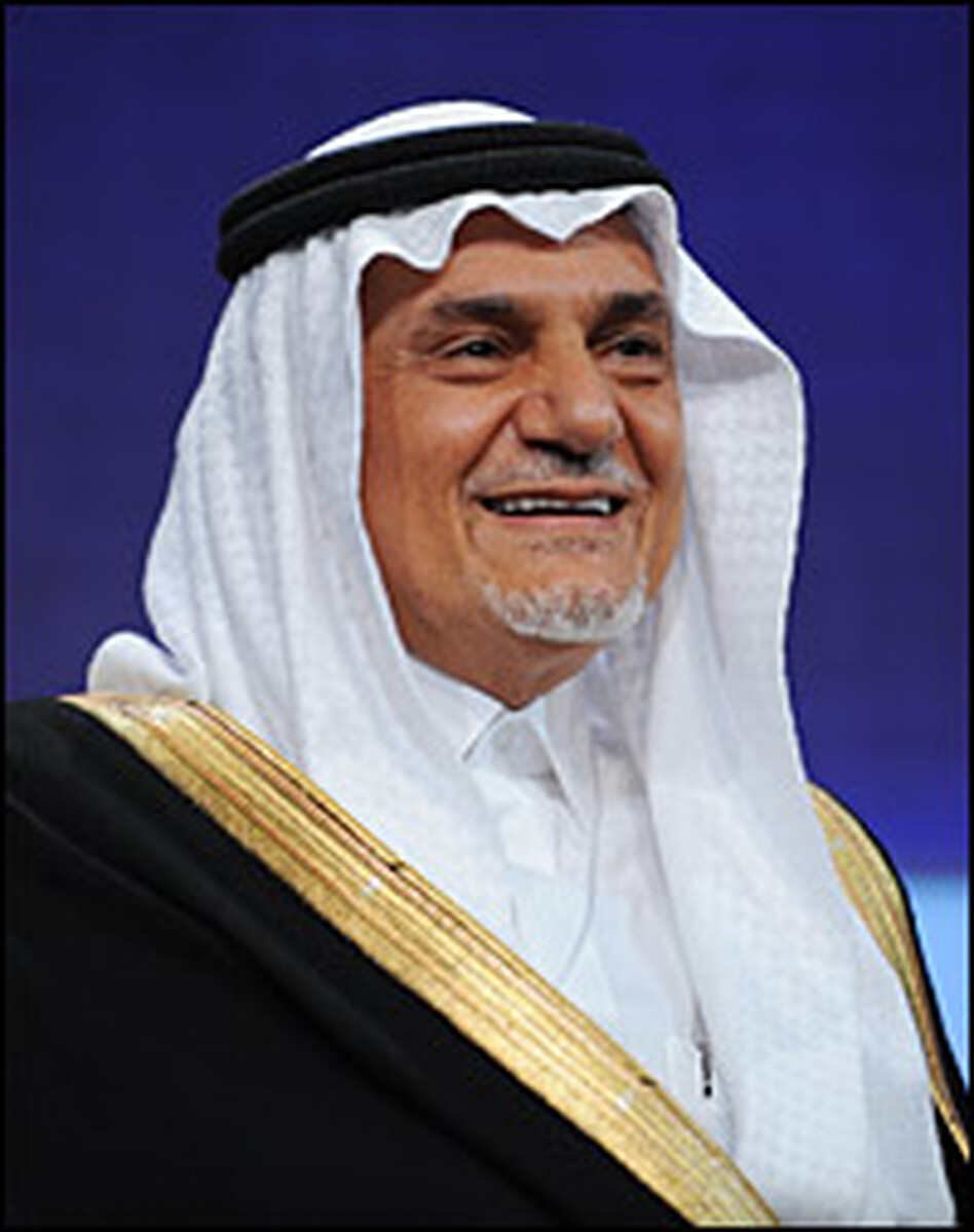 "Saudi Arabia's Prince Turki al-Faisal (shown here in September 2008) recently wrote in the <em>Financial Times</em> of the Bush administration's ""sickening legacy in the region"" and accused it of ""contributing to the slaughter of innocents"" through its ""arrogant attitude about the butchery in Gaza."""