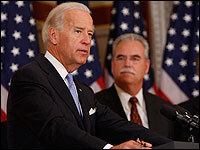 Joe Biden and Rich Umbdenstock