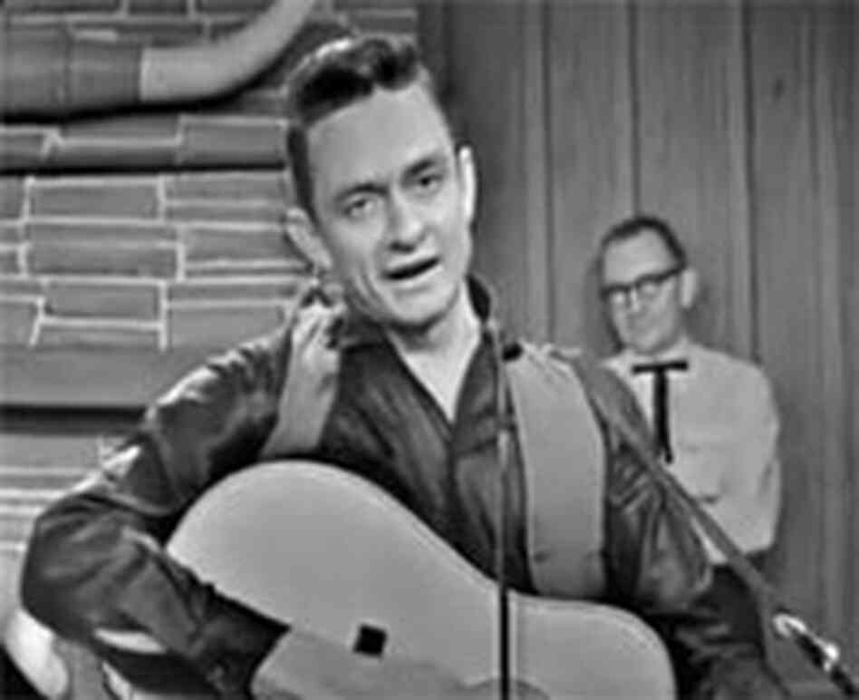 Johnny Cash on the Grand Ole Opry in 1962
