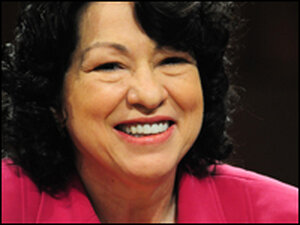 U.S. Supreme Court nominee Sonia Sotomayor