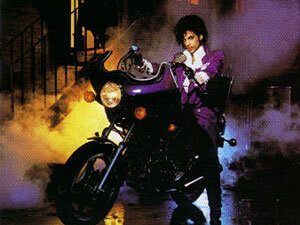 Prince on the cover of Purple Rain.