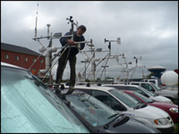 On Vortex 2, about 40 vehicles were deployed to surround and monitor tornadoes.