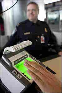 Biometric device at George H. W. Bush Airport