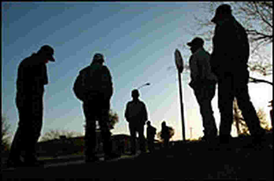 Day laborers waiting for a job in Tucson