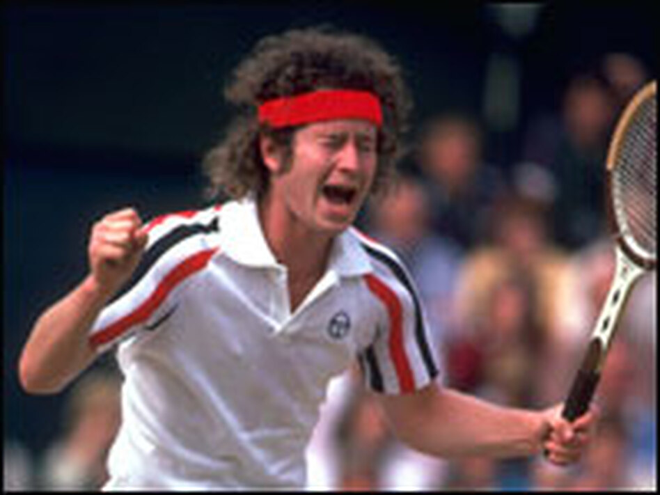 Tennis player John McEnroe gets angry after an umpire's call at the 1980 Wimbledon championships. (Steve Powell/Getty Images)