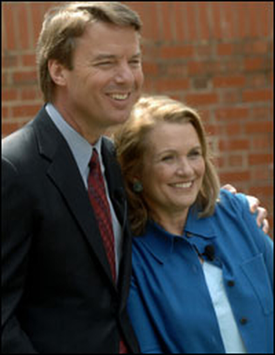 John and Elizabeth Edwards held a news conference in March 2007 to announce that John would remain in the presidential race despite Elizabeth's ongoing battle with cancer.