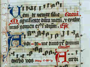 Ancient music manuscript from the Lune Convent