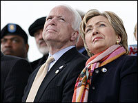 """john mccain and hillary clinton on the issues essay The topic of the present paper, """"the differing foreign policy perspectives of senators john mccain, hillary rodham clinton and barack obama – differences of emphasis and similarities of outlook"""", opens a very wide field of issues."""