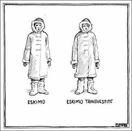 Rejected New Yorker Eskimo Cartoon