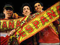 Fans celebrate after Spain wins the Euro 2008 soccer championships