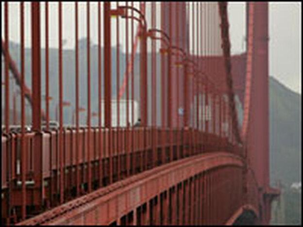 San Francisco's Golden Gate Bridge. (Getty Images)