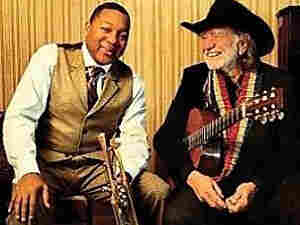 Willie Nelson and Wynton Marsalis' new album is titled Two Men With The Blues