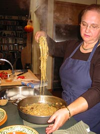 Lidia Matticchio Bastianich serves up one of her favorite pasta dishes: capellini with a sauce of an
