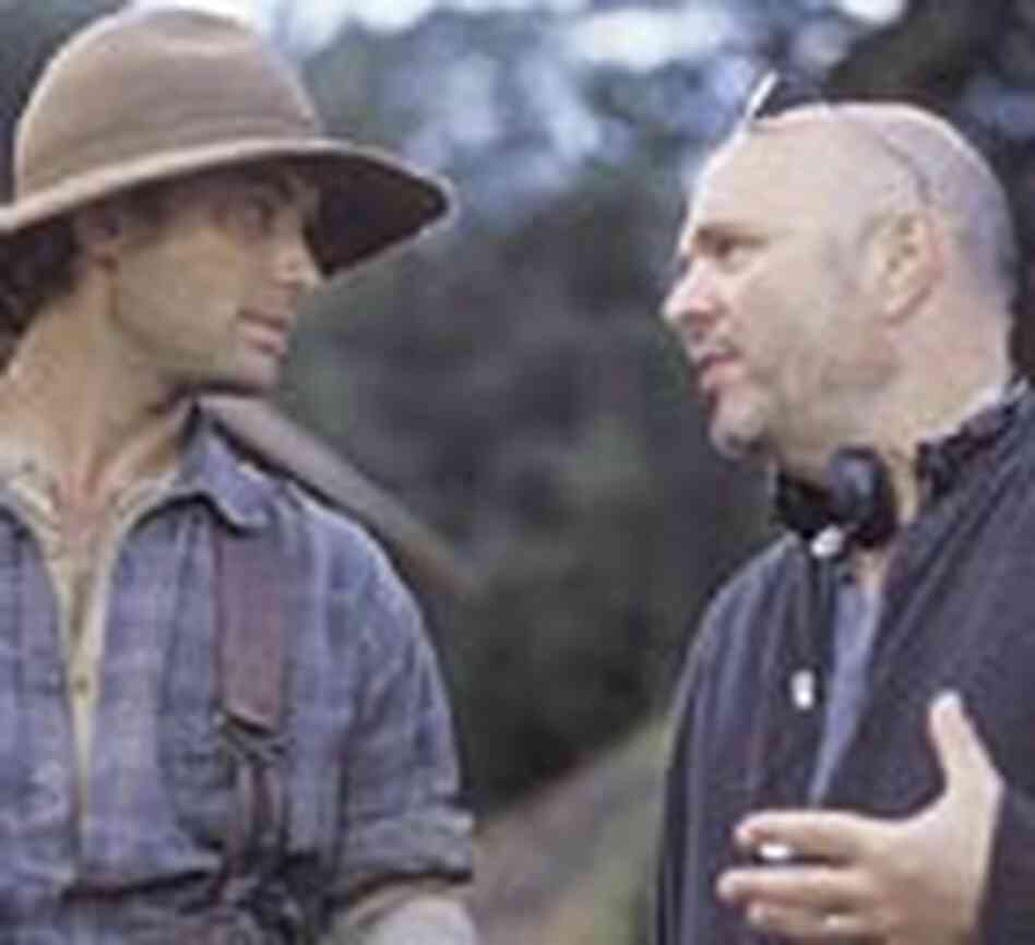 Minghella on set of 'Cold Mountain'