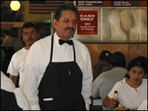 Jesse Villa has worked at The Original Pantry Cafe in downtown Los Angeles since 1966.
